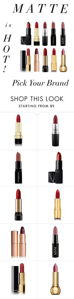 """""""Matte is Hot!"""" by luxuree ❤ liked on Polyvore featuring beauty, Dolce&Gabbana, MAC Cosmetics, Smashbox, NARS Cosmetics, Lancôme, Isaac Mizrahi, Charlotte Tilbury, NYX and Chanel"""