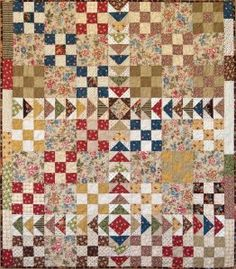 Fruit Chutney by Kaye England at Pour l'Amour du Fil 9 Patch Quilt, Quilt Blocks, Amish Quilts, Scrappy Quilts, Primitive Quilts, Cute Quilts, Small Quilts, Quilting Projects, Quilting Designs