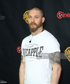 Actor Tom Hardy arrives at Warner Bros. Pictures presents The Big Picture during CinemaCon 2015 at The Colosseum at Caesars Palace on April 21, 2015 in Las Vegas, Nevada.