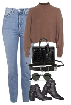 """""""Untitled #1143"""" by oh-its-anna ❤ liked on Polyvore featuring Topshop, Ray-Ban, Yves Saint Laurent, Acne Studios, B-Low the Belt, women's clothing, women's fashion, women, female and woman"""