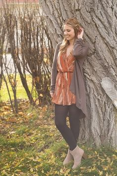 Pair your rompers with tights and a cardigan on those chilly nights out! #xoxoAL4You #fashiontip #romper #fall #shoplocal #apricotlane Spice & Everything Nice Romper $46 All Amused Cardigan $34 Comment or click the link to order! http://form.jotform.us/form/52044697810154