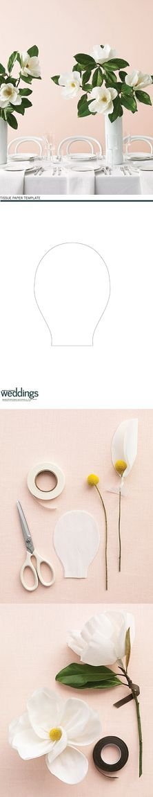 Paper Magnolia instructions and template - Martha Stewart Weddings http://www.marthastewartweddings.com/227227/big-blooms-small-budget?czone=inspiration/ww-clip-art-and-templates/decorations=309724=308996=105304