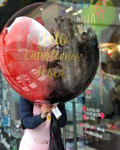 Globo burbuja con pintura a 2 tonos personalizado Happy Birthday Colleague, Birthday Balloons, Birthday Parties, Balloon Painting, Honey Shop, Balloon Gift, Balloon Flowers, Helium Balloons, Balloon Decorations