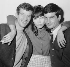 Anna Karina, Jean Paul Belmondo, and someguy—I mean Jean Claude Brialy.