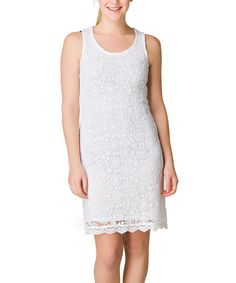 Look at this Yest White Istar Dress - Women on #zulily today!