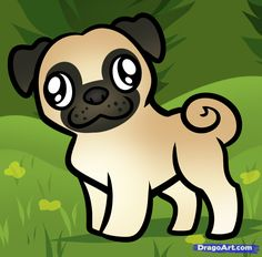 How to Draw a Pug for Kids