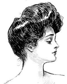 "The Gibson Girl was the personification of the feminine ideal of beauty portrayed by the satirical pen-and-ink illustrations of illustrator Charles Dana Gibson during a 20-year period that spanned the late nineteenth and early twentieth century in the United States. The artist saw his creation as representing the composite of ""thousands of American girls."""