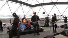 Metallica en su concierto en la Antártida dentro del dome