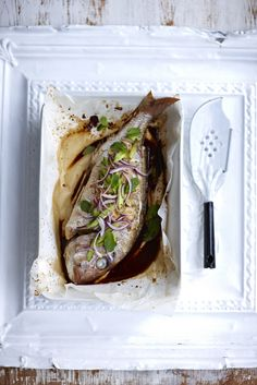 Soy-baked Whole Snapper #recipe