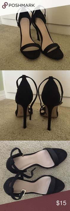 Asos black strappy heels Black 4 in heels worn once ASOS Shoes Heels