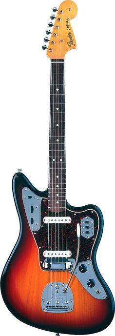Fender Jaguar sunburst finish