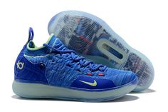 """new product d6f66 857af Kevin Durant s Nike KD 11 """"Paranoid"""" Bright Blue Volt For Sale"""
