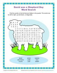 Childrens Bible Word Search Activity