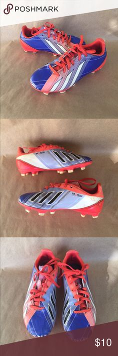Adidas Messi Soccer Cleats Used condition as seen in photos. Size 1.5. Adidas Shoes Sneakers