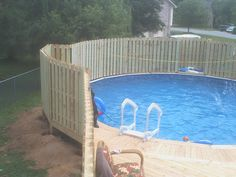 with privacy fence - Above Ground Pool Privacy Fence Ideas