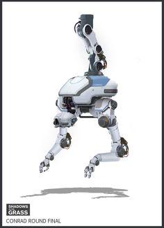 Robot design for the short film Shadows In The Grass by Matt Nayman.