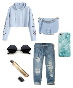 """""""Blue"""" by mindaandea on Polyvore featuring Hollister Co., Little Liffner, Recover and Hoodies"""