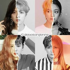 Bts and Blackpink ships. Kpop Girl Groups, Korean Girl Groups, Kpop Girls, Bts Jungkook, Les Bts, Blackpink Memes, Kpop Couples, Bts Imagine, Black Pink Kpop