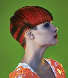 short red straight coloured multi-tonal multi-coloured haircut womens hairstyles for women