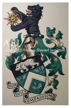Coats of Arms, Heraldry, Heraldic Art & Illuminated Manuscripts painted by English Artist Andrew Stewart Jamieson in 2011.
