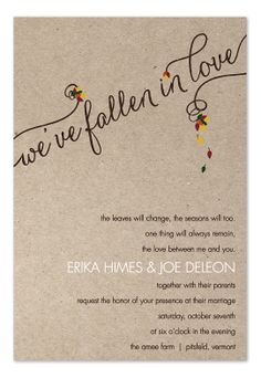 Love and Leaves - Wedding Invitations by Invitation Consultants. (Item # IC-RLP-826 )
