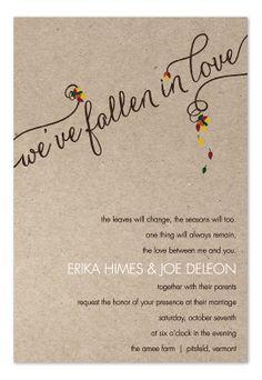 Autumn Wedding Invitations Examples Phrases Printable Templates Fall Invitation Pinterest