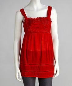 Take a look at this Orange Sash Square Neck Tank by Simply Irresistible on #zulily today! $16.99