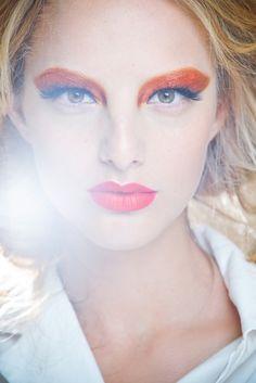 orange, eyeshadow, black