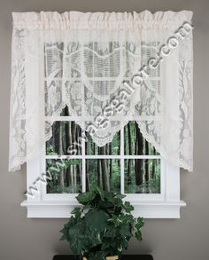 The Windsor Lace Curtain Panel Is Perfect For Your Home This Full Exudes Elegance And Beauty With Its Scalloped Edges Delicate