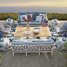 Choose from the Frontgate lineup of stylish, high-quality, cast-aluminum patio furniture to outfit your outdoor living space. Cast Aluminum Patio Furniture, Teak Furniture, Furniture Styles, Frontgate Outdoor Furniture, Outdoor Furniture Sets, Outdoor Decor, Outdoor Sofas, Outdoor Spaces, Luxury Home Decor