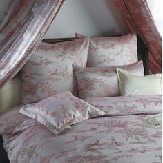 Bauer (Toile) by Rogitex Toile Bedding, Bedroom Bed, Duvet Covers, To My Daughter, Pillow Cases, Pillows, Pink, Home, Decor