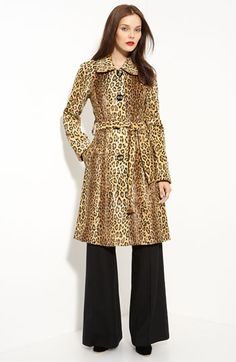 Milly Bianca Belted Leopard Print Coat  #Milly_Bianca #Leopard