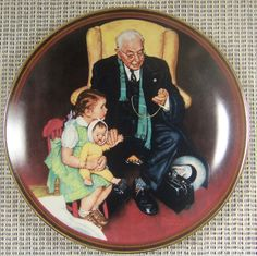 """Limited Edition Collector's Plate Rockwell The Ones We Love """"Tender Loving Care"""""""