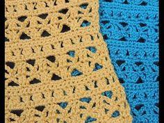 Crochet : Punto Combinado # 5, en dos colores - YouTube