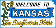 Welcome to Kansas Sign Vintage 50s
