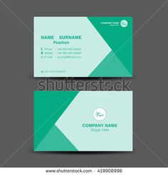 Vector modern creative and clean business card templateblue polygon green business card vector backgroundflyer designpolygon backgroundname card template reheart Images