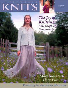 Interweave Knits N 4 Winter Knitting Magazine, Crochet Magazine, Knitting Books, Free Knitting, Vintage Patterns, Knitting Patterns, Knit Art, Free Magazines, Book And Magazine