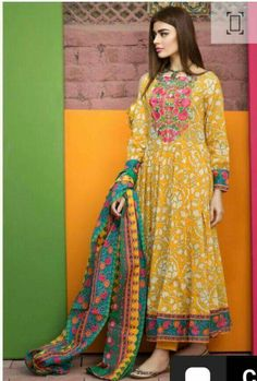 Lawn Dress by Khaadi Model L 59 is part of Pakistani formal dresses - 7 Customer Support For More Details Please Calls Us Now Thanks To Visit US Latest Pakistani Dresses, Pakistani Dress Design, Pakistani Outfits, Indian Dresses, Indian Outfits, Latest Pakistani Fashion, Indian Designer Outfits, Designer Dresses, Pakistani Designer Clothes