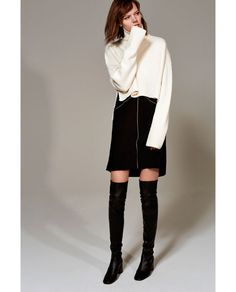Image 1 of STUDIO WOOL SWEATER WITH A RAISED COLLAR from Zara