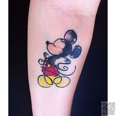 43. #Mickey-Mouse - 45 unglaubliche #Aquarell Tattoos... → #Beauty