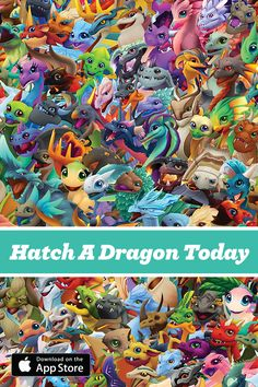 Love Dragons? Play DragonVale World Today For Free. Breed, Hatch, and Love Your Favorites As They Level Up, Producing More & More Dragon Cash. | Dragons | Breeding | Simulation Game | Mobile Game | Free | Art |