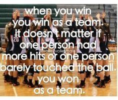 True!!! I love volleyball!
