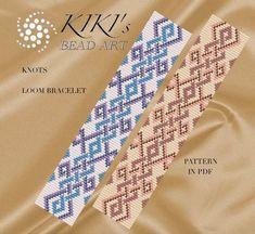 Bead loom pattern - Knots Celtic inspired LOOM bracelet pattern in PDF - instant download Loom Bracelet Patterns, Bead Loom Patterns, Weaving Patterns, Loom Bracelets, Weaving Loom For Sale, Inkle Weaving, Bead Weaving, Bead Loom Designs, Scrappy Quilts