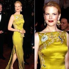 Nicole Kidman in John Galliano at the 1997 Oscars.  I know he spouted out stupidity, but the man is a design genius.