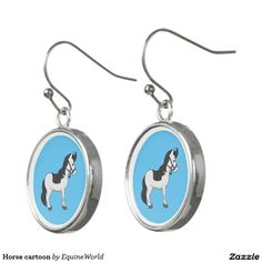 Horse cartoon earrings