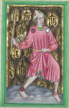 Astrologische Handschrift für König Wenzel IV. von Böhmen 14. Jh. Clm 826 Folio NP