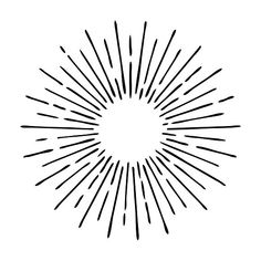 Sun rays hand drawn, linear drawing by Drum-magic on Tribal Tattoos, Sun Tattoos, Tattoos Skull, Sun Rays Tattoo, Celtic Tattoos, Sleeve Tattoos, Sun Drawing, Drawing Tips, Sonne Illustration
