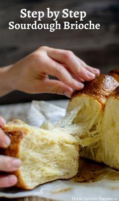 Sourdough Bread Starter, Sourdough Recipes, Bread Recipes, Cooking Recipes, Sourdough Brioche Recipe, Dutch Recipes, Homemade Brioche, Homemade Breads, Canela