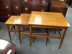 Teak Nest of Tables Very clean set of 3 nesting tables. Excellent finish Price $160.00