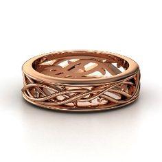 Vine Band, Men's Rose Gold Ring from Gemvara